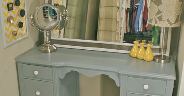 Upcycled Old Desk Into Vanity