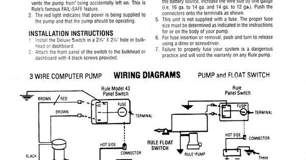 Rule Bilge Pump Switch Wiring Diagram