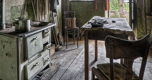 Buckled Floor In Old Farm House Kitchen Farmhouse Dreams Pinterest The Abandoned Old