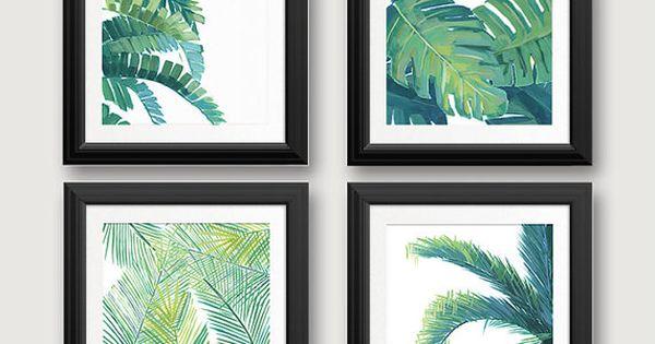 Tropical Leaf Prints, Banana Leaf, Palm Tree, Tropical