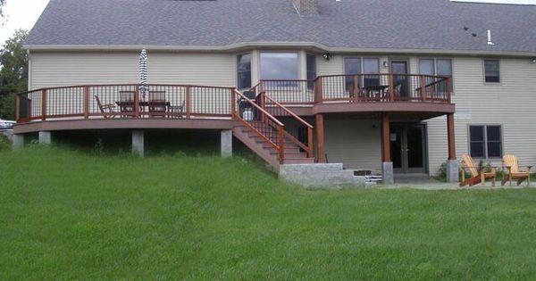 Deck For Bilevel Home