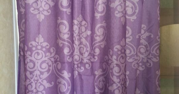 6 Shower Curtain From Family Dollar And Its Purple Decorating Toy Hauler Camper Remodel