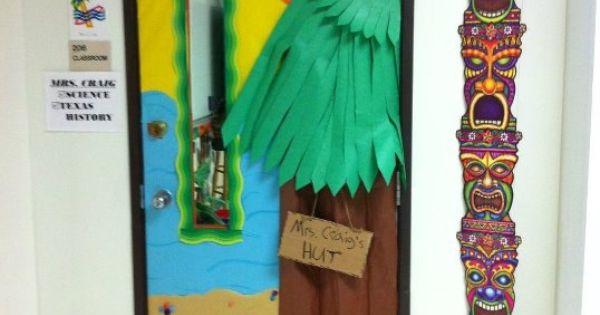 An Hawaiian Village Hut Door Classroom Theme Classroom