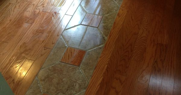 A Really Cool Way To Tie Two Different Hardwood Lots Together Home Ideas Pinterest