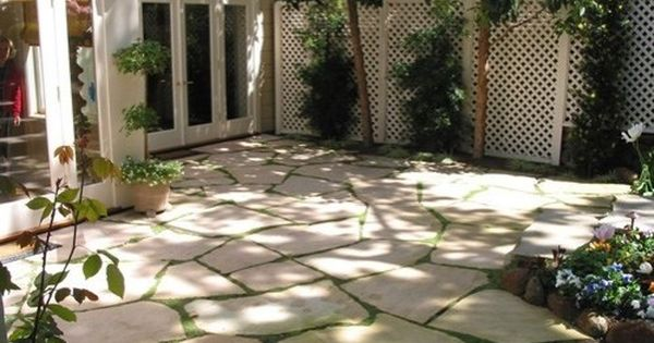 Pavers With Ground Cover For The Deck To Grass Transition