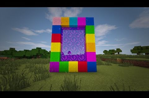 Minecraft How To Make A Portal To CANDY LAND No Mods