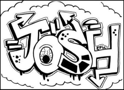 Learn To Draw Graffiti Names JOSH Just Click On Free