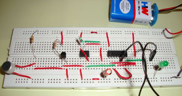 Clap On Clap Off Switch Using 555 Timer IC