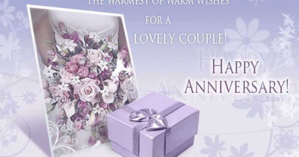 Happy Anniversary The Warmest Of Warm Wishes For A Lovely CoupleHappy Anniversary For The
