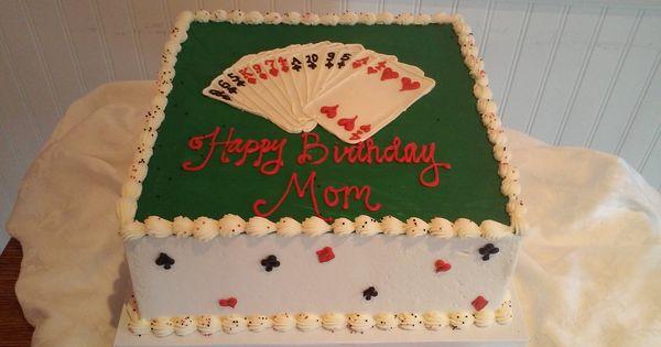 Bridge Card Game Birthday Cake Sweetpea Cake Amp Cupcake