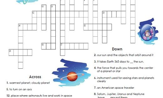 Check out our Solar System Crossword Puzzle! Read the ...