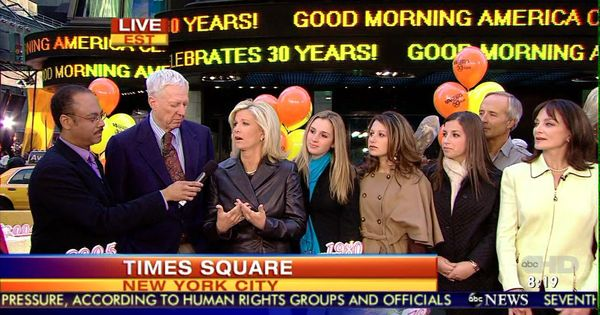 In Times Square celebrating 30th Anniversary of Good ...