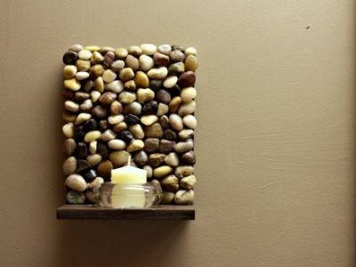 Beautiful DIY Stone Shelf