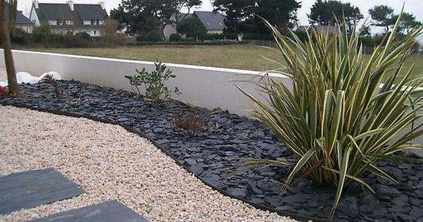 Image Jardin Minral Avec Par Terre Dardoise Et Plante