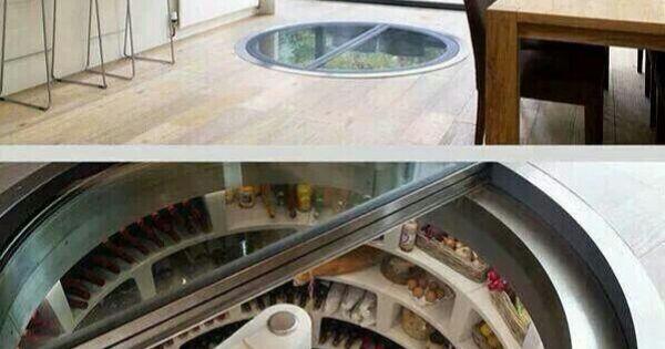 Kitchen With Underground Spiral Staircase Refrigerator Dream Homes Pinterest Spiral