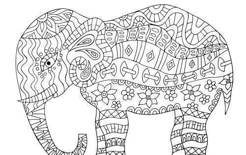 Mandala Elephant Coloring Page Mandala Elephant Mandala