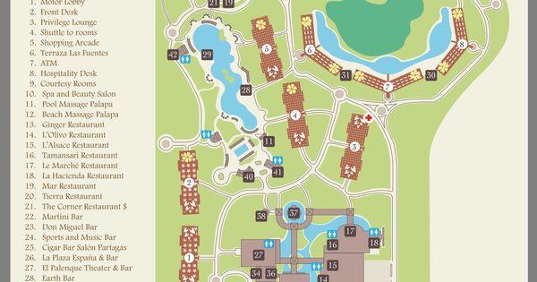 Valentin Imperial Maya Resort Map Mexico Pinterest