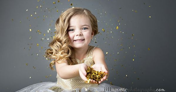 Children Photography Glitter Gray Child Gold For More