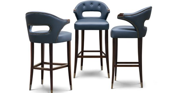 Nanok Modern Bar Chairs With Upholstered Chair