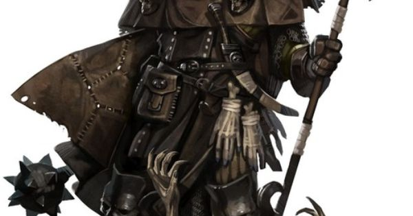 Dragonsorcsandgeeks: Half-Orc Undead Hunter