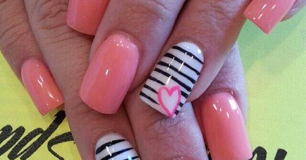 Pink And Stripes See More At Httpwwwnailssscom