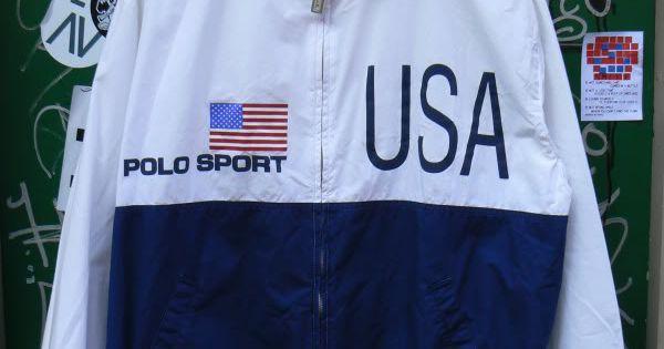 ZONE7STYLE Vintage Ralph Lauren Polo Sport USA Flag