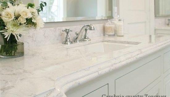 Cambria Quartz Bathroom Countertop Looks Like Carrara