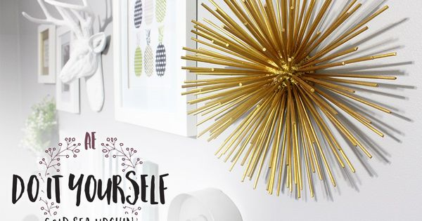 Do It Yourself Gold Sea Urchin (Spiky Ball) For Gallery