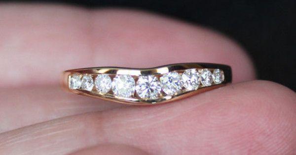 New Zales 14k 0 4ct Diamond Chevron Ring Wedding Band Enhancer Guard Wrap Gold Zales