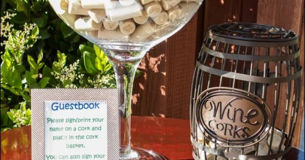 Have Your Guests Personalize A Wine Cork As Your Guest