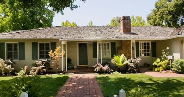 1950s Ranch Exterior Remodeling Design Ideas Pictures