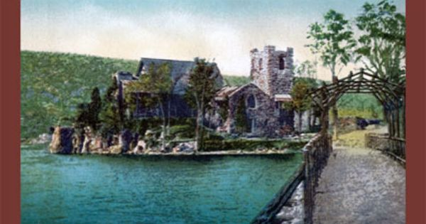 Greenwood Lake Ny View Of Chapel Island From Walkway To The Church Greenwood Lake 70s And