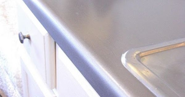Faux Stainless Steel Painted Counter Top Stainless Steel