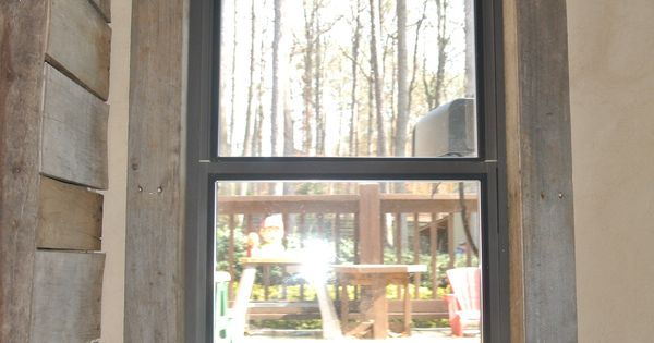 Pallet Window Trim Walls Amp Floors Pinterest Pallets
