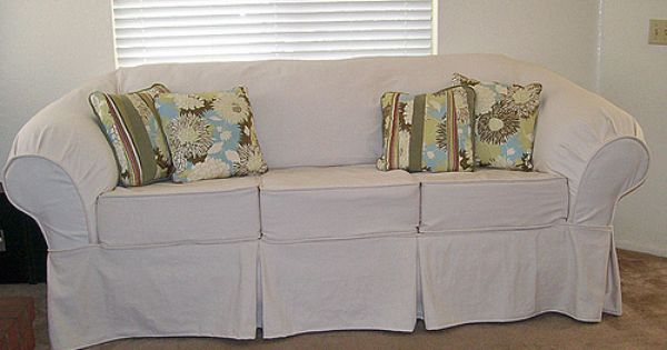 Diy Couch Slipcover (knock Off Pottery Barn)