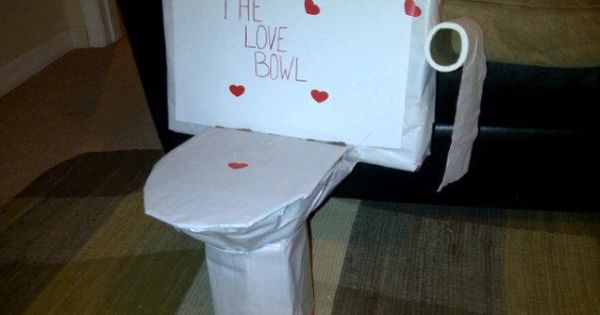 Toilet Bowl Valentines Day Box Craft Ideas Pinterest