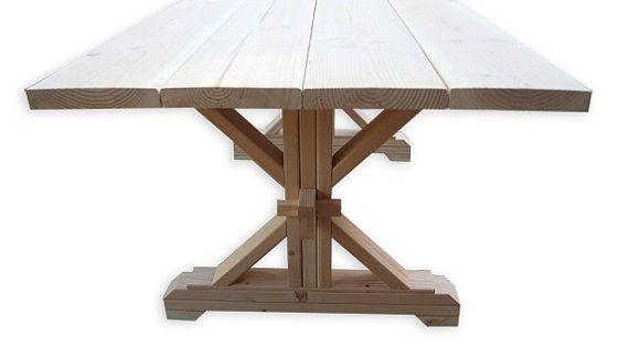 Farmhouse Trestle Table DIY Kit By LakeshoreHnH On Etsy