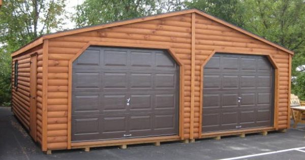 Double Wide Mobile Homes Log Siding Rustic Double Garage
