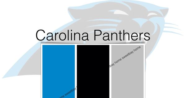 Interior Paint Palette Color Card Carolina Panthers By SweetbayHome On Etsy Crafts