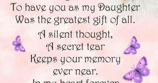 Special Daughter Beautiful Poems Pinterest Grief