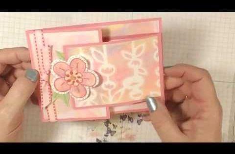 Joy Fold Flower Card Lovesummerart YouTube Pinteres