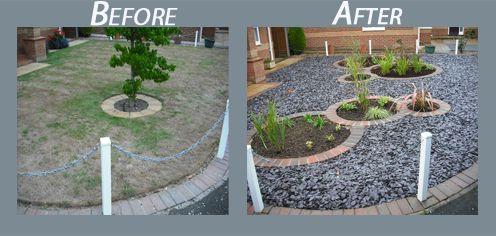Garden Design with Low Maintenance Front Garden Ideas ... on Small Garden Ideas No Grass  id=63439