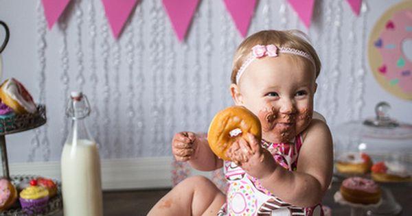 Donut Cake Smash Girl Cake Smash 1st Birthday First