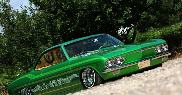 Chevy Corvair Lowrider Hydraulic Suspension Candy Green