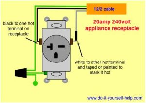 wiring diagram for a 20 amp 240 volt receptacle | TOOLS