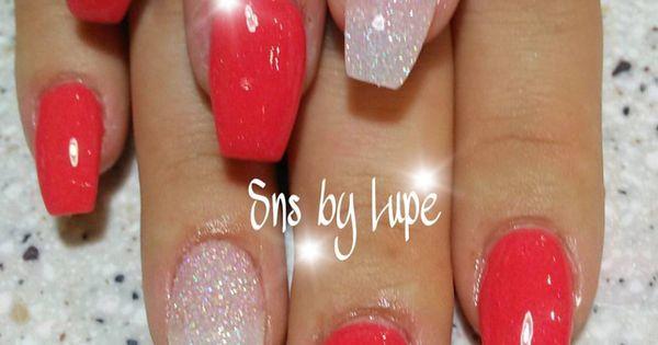 SNS Dipping Powder Nails In Ballerina Shape Nails