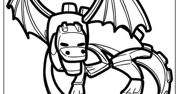 ender dragon cartoon coloring page  accessories