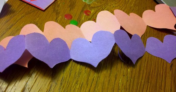 How To Make A Paper Heart Chain Valentines Day Craft For