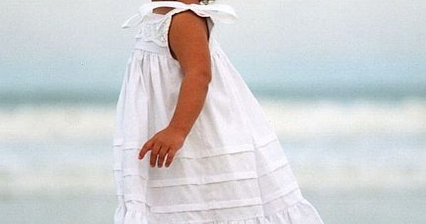 Victorian White Sun Dresses For Little Girls.