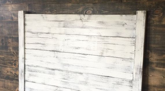 Shiplap Headboard Distressed White By JNMRusticDesigns On